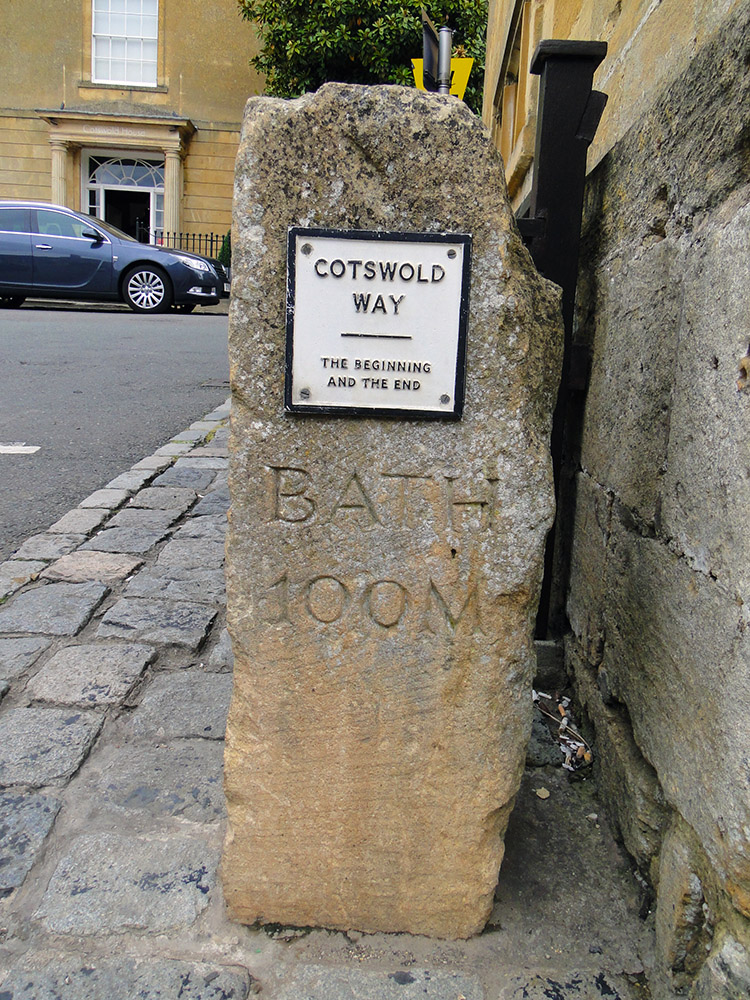 The beginning of the Cotswold Way