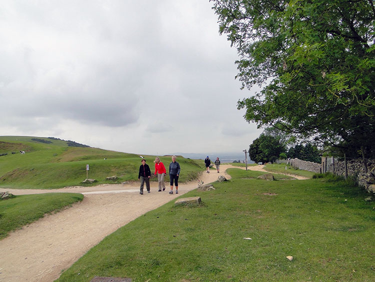 Walkers on Cleeve Hill