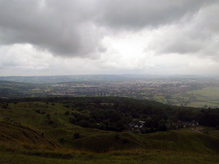 Cheltenham as seen from Cleeve Hill