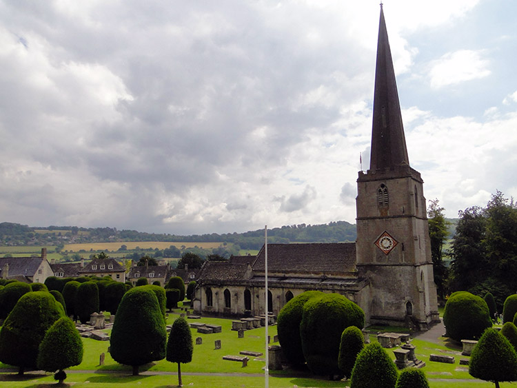 Painswick Church and the famous Yew Trees
