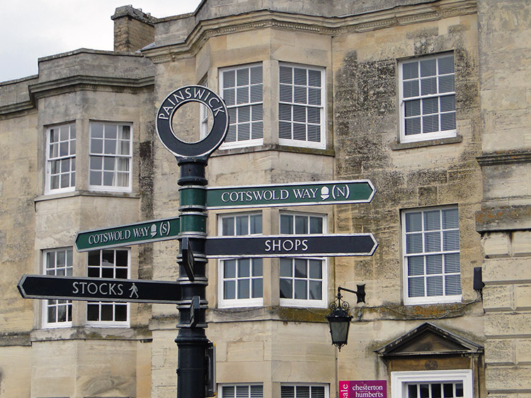 Walkers signpost in Painswick