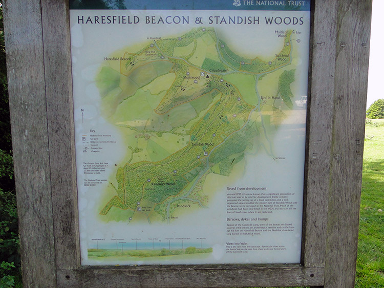 Information Board at Haresfield car park