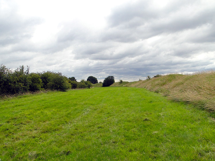 Raised north facing bank of Little Sodbury hillfort