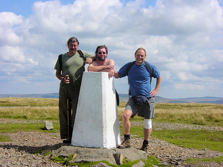 Deke, Stuart and me at the Calf trigpoint