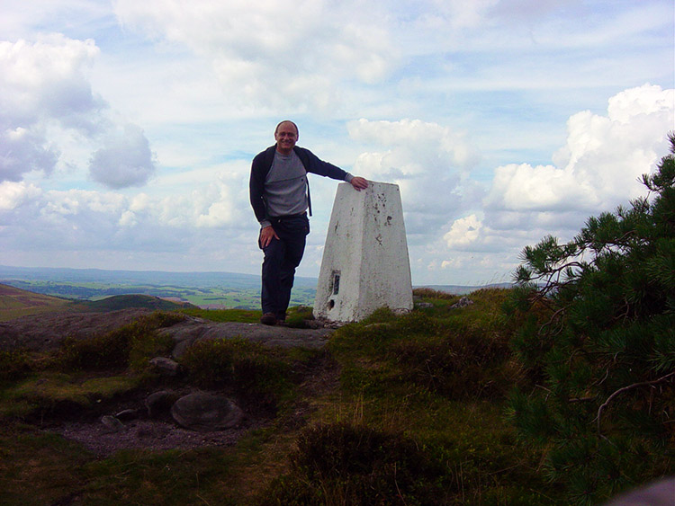At the trig point above Hall Fell