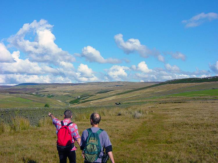 Jez and Dave survey Grassington Moor
