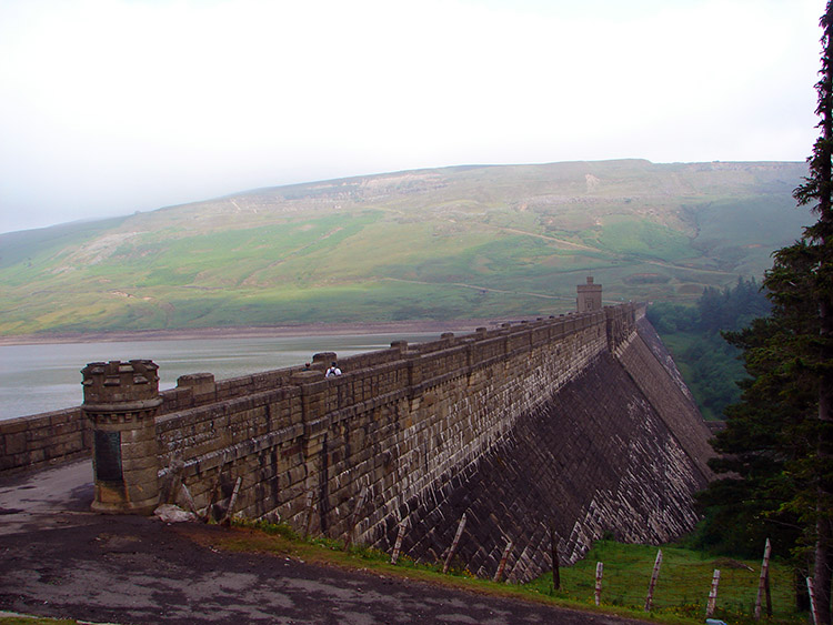 Dam of Scar House Reservoir