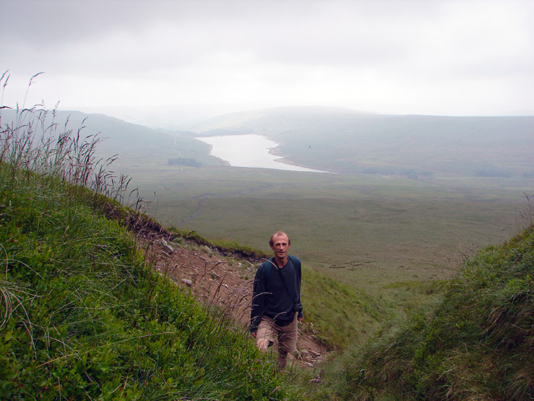Dave climbs to Little Whernside