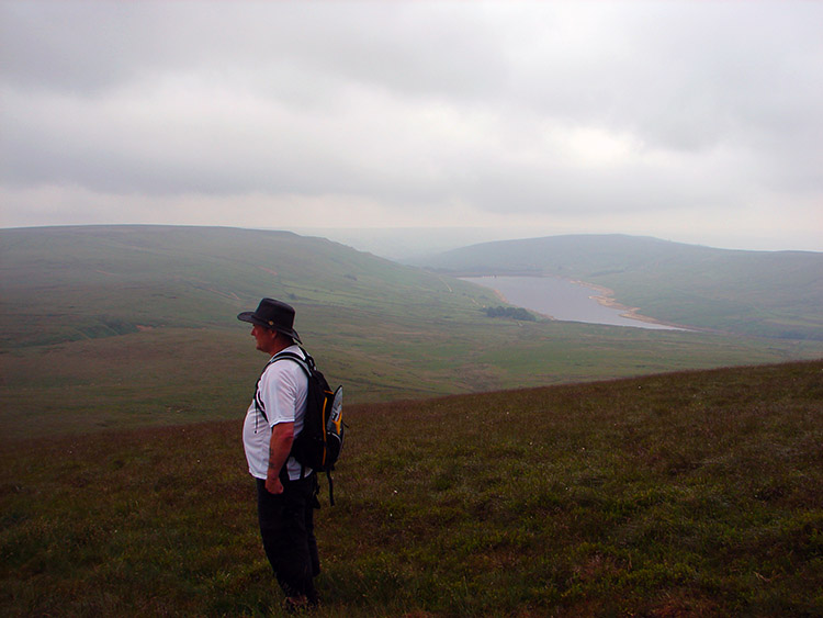 Ray takes in the view from Little Whernside