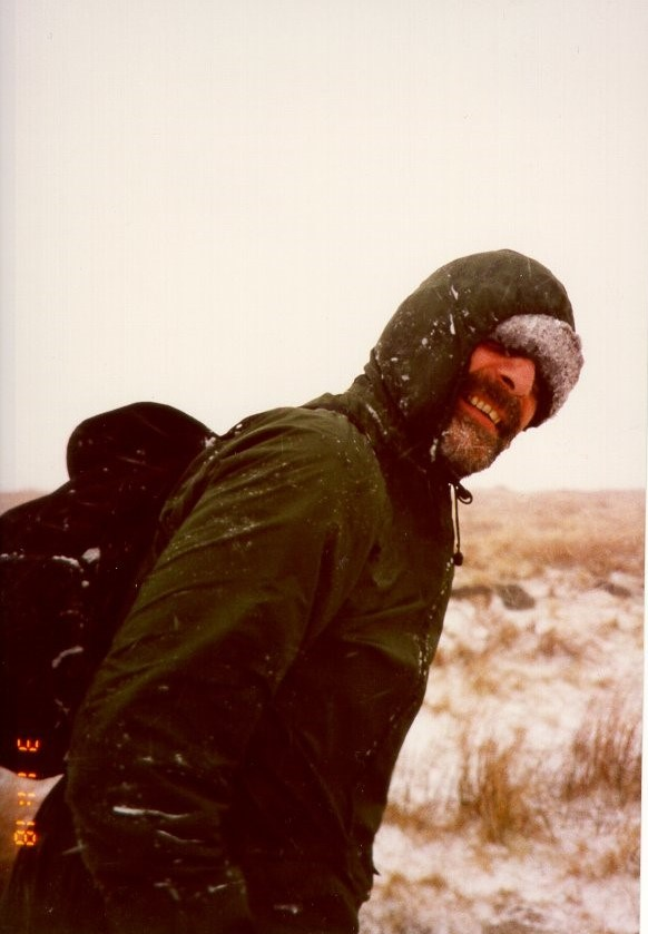 Steve braves the snowstorm on Buckden Rake