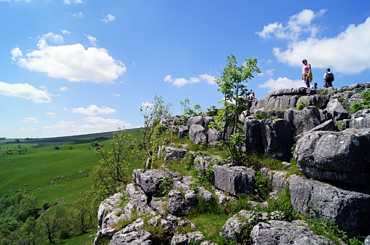 Viewing from the edge of Malham Cove