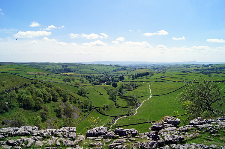 The view south from Malham Cove