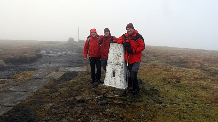 Buckden Pike summit trig point