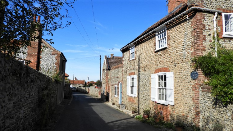 Flint cottages in Blakeney