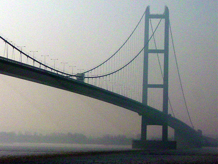 Humber Bridge on a misty morning