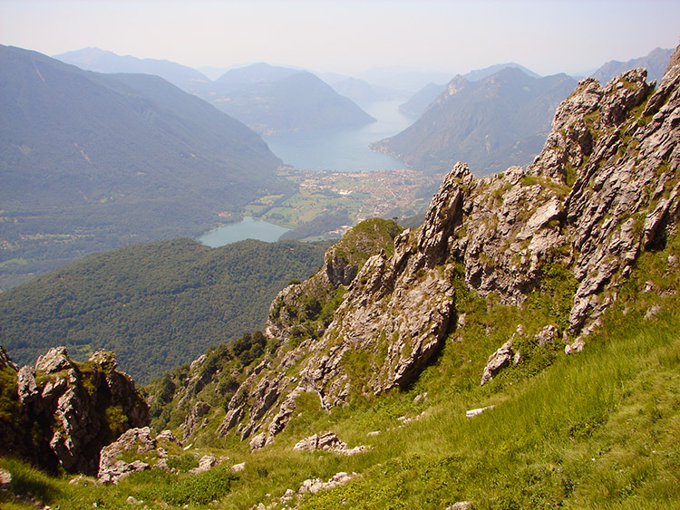 The view to Lake Como on the climb to Pizzo Coppa