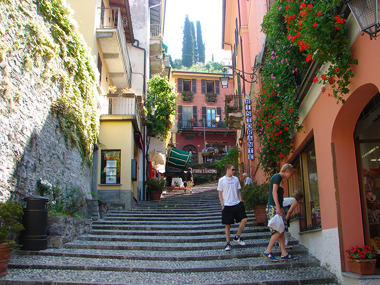 Steps in the town