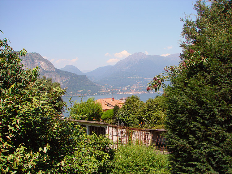 The view to Menaggio from the park in Bellagio