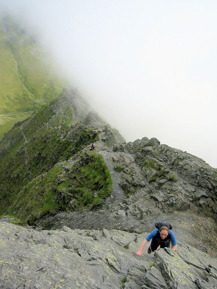 Scrambling up Foule Crag