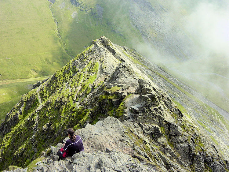 Enjoying the moment on Sharp Edge