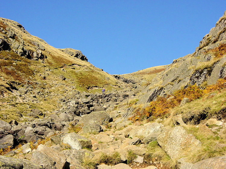 Nearing the top of Stickle Ghyll