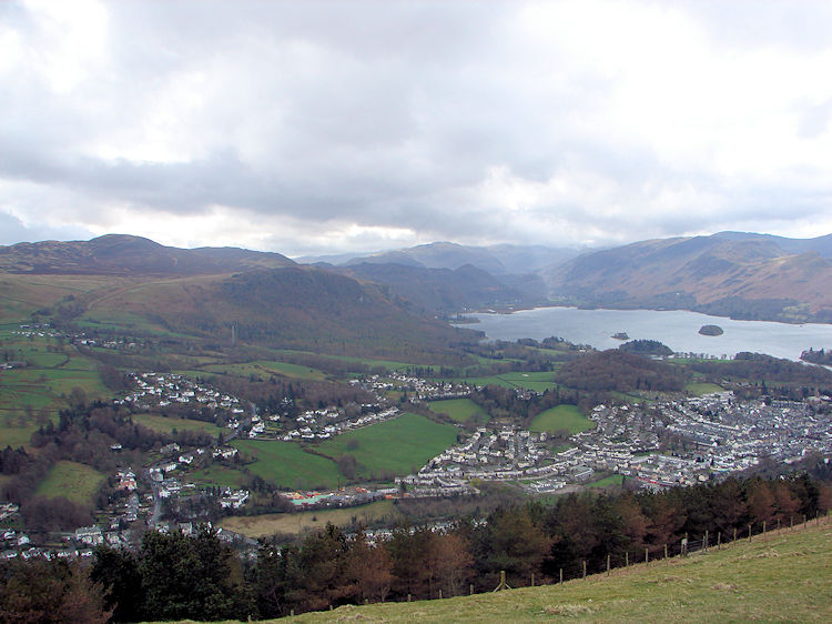 Keswick, Derwent Water and the Newlands Fells