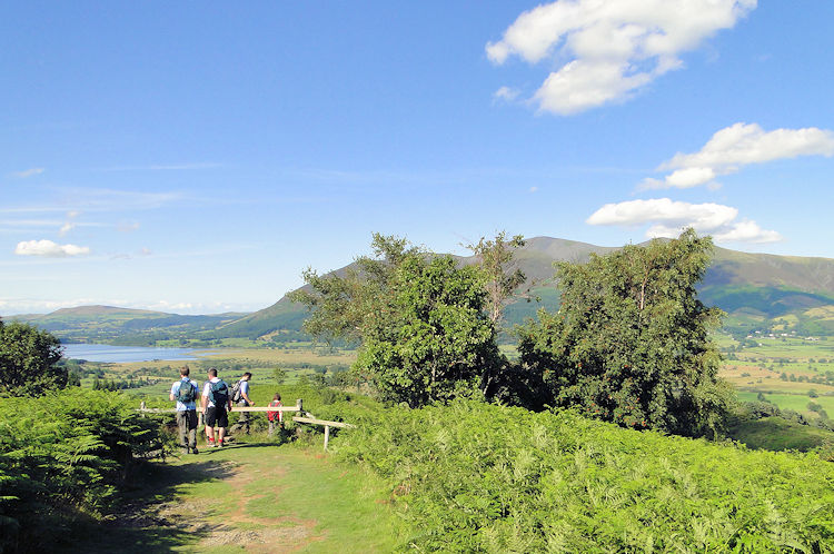 View to Skiddaw and Bassenthwaite Lake