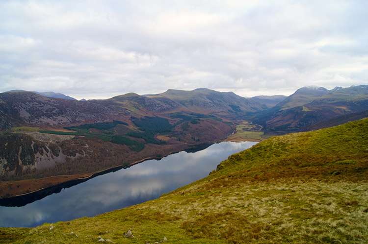 Looking down on Ennerdale Water from Crag Fell