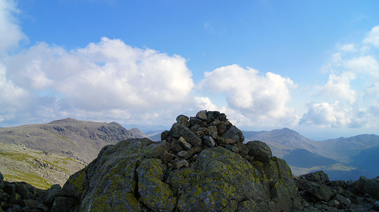 View from Scafell to Scafell Pike