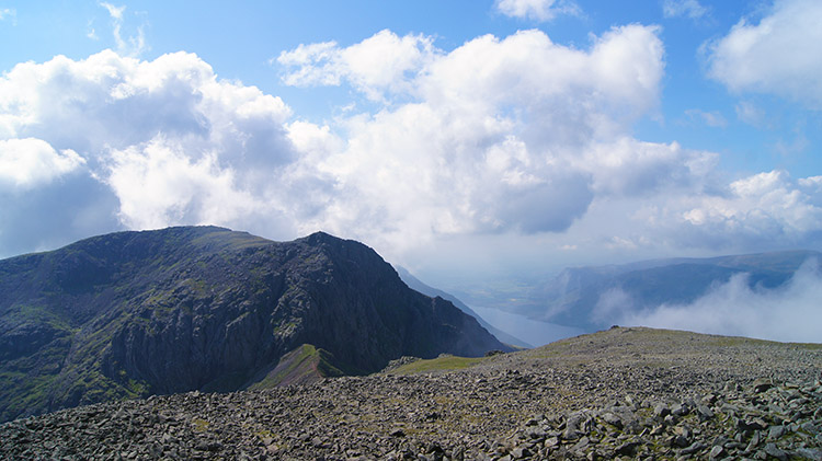 View to Scafell from Scafell Pike
