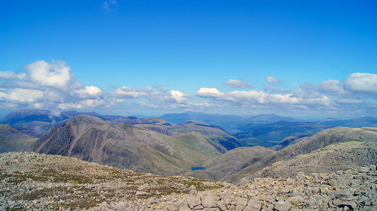 View north to Great Gable