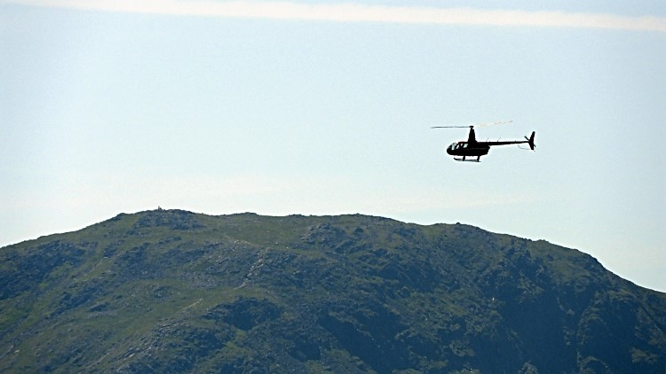 Helicopter over Angletarn Pikes