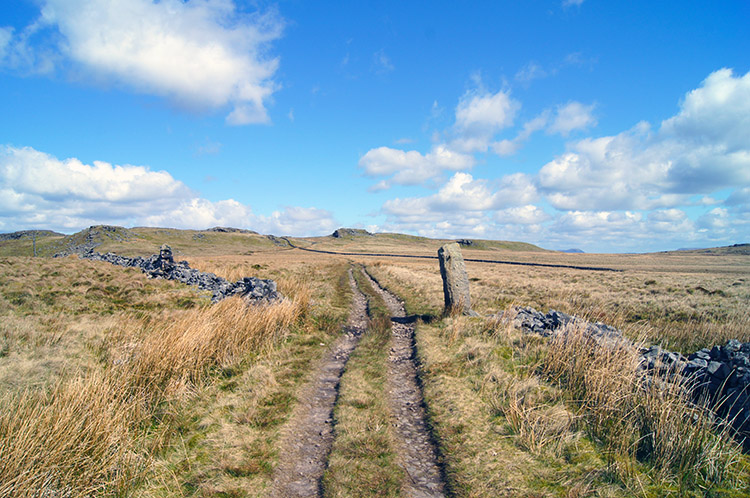 Straight ahead to Bowland Knotts