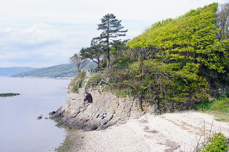 Secluded cove and Silverdale Cave