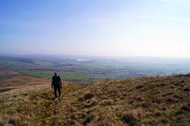 Climbing to Wisket Hill