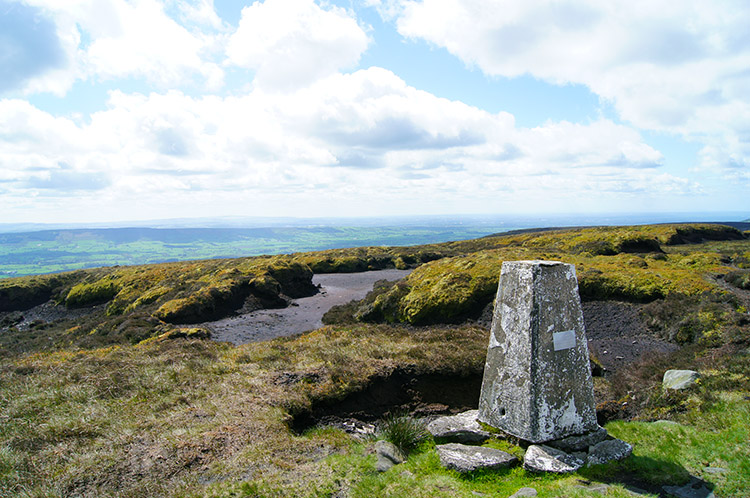 Totridge summit Trig Point at 496 metres