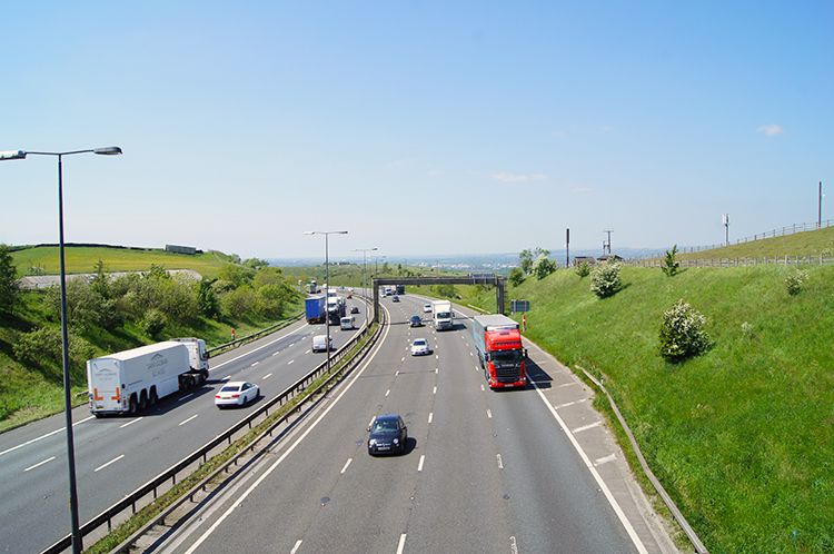 M62 at Higher Booth Hollins Hill