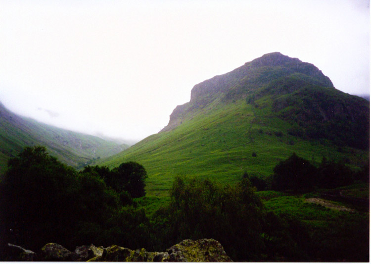 Eagle Crag is passed on the walk to Greenup Edge