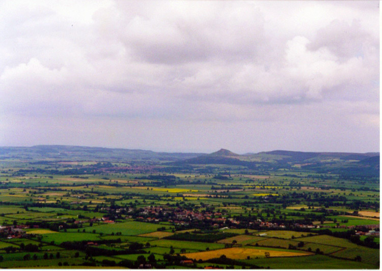 View of the Vale of Mowbray from the Cleveland Hills