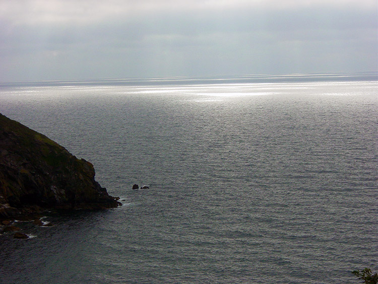 Shimmering sea near Nare Head