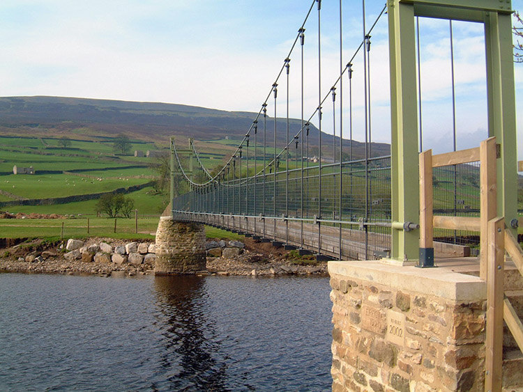 River Swale crossing at the Swing Bridge