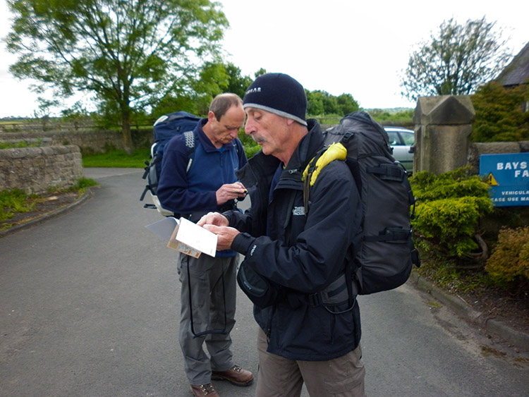 Double checking the route from Heddon on the Wall