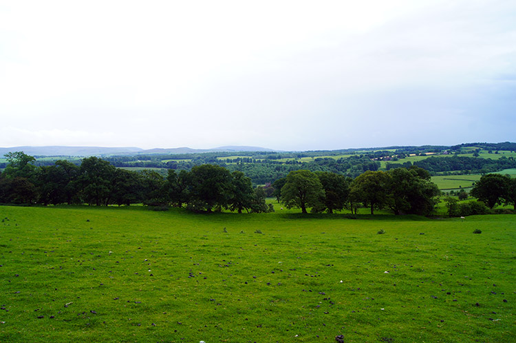 Looking west over lush countryside near Haytongate