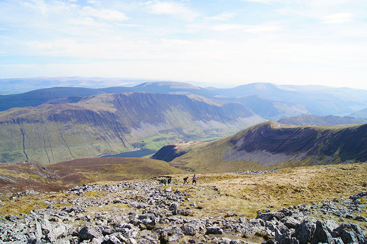 Beautiful views are to be enjoyed from Cadair Idris