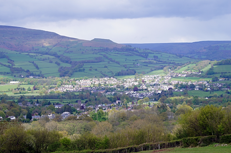 View from Darren Cilau to Crickhowell