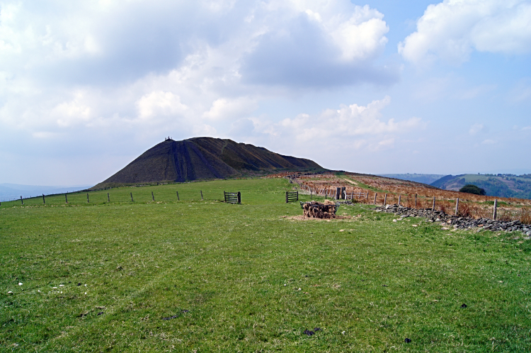 Slag heap on Mynydd Machen