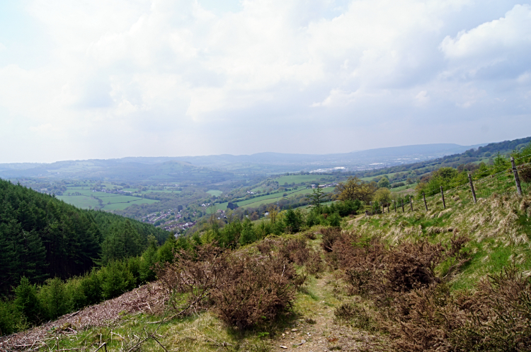 View to Rhymney Valley from Mynydd Machen
