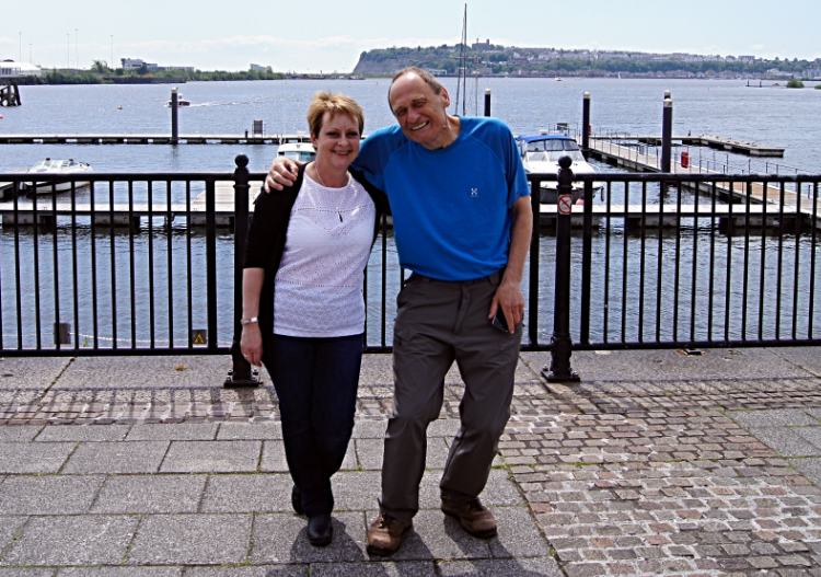 Mr and Mrs Walking Englishman in Cardiff Bay