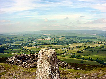 The view to Wharfedale from Beamsley Beacon