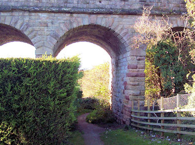 Old stone rail bridge in Spofforth